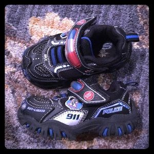 Skechers hot light police shoes toddler sz 6